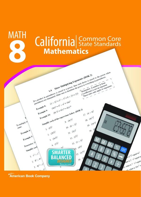 California Common Core State Standards In Grade 8 Math