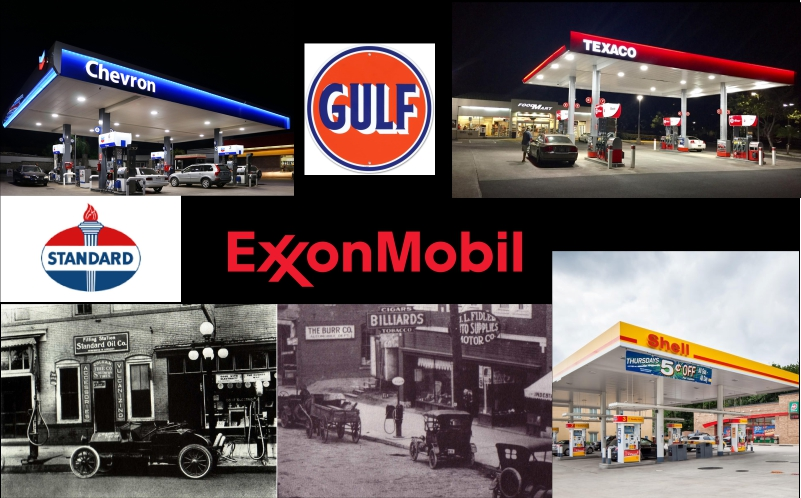 Gas Station Wars: Rockefeller to Dinosaurs to Tigers in Tanks
