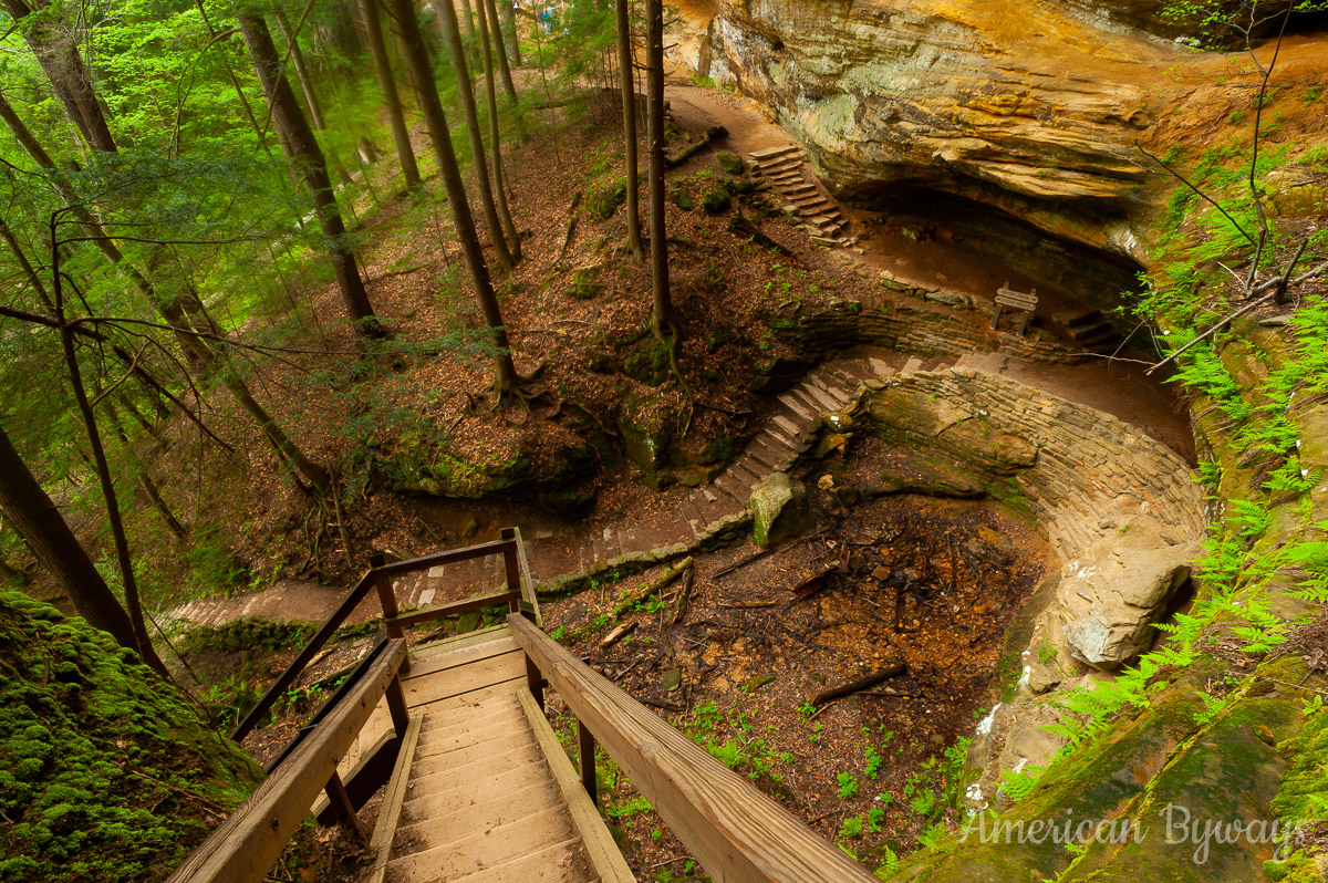 Trails and Staircases at Old Man's Cave