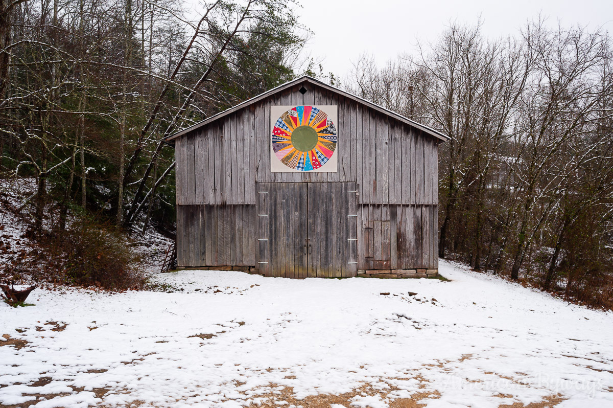 Typical Rural Barn with Quilt Pattern