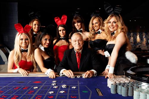Hugh Hefner at London Playboy Club