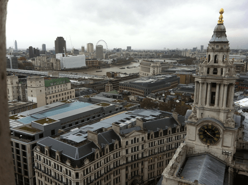 A view of London from St Paul's Cathedral
