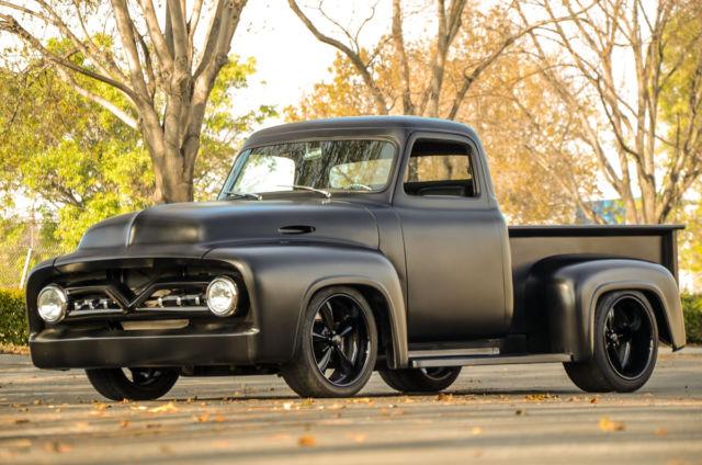 1955 Ford F100 Flat Black