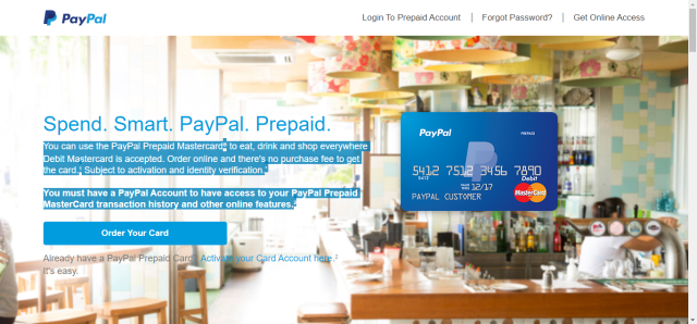 how to add funds to paypal with prepaid credit card | Applydocoument co