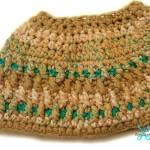 Granite Messy Bun Hat free crochet pattern