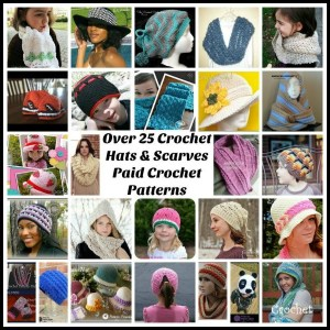 Over 25 Crochet Hats and Scarves Roundup ~ Guest Post