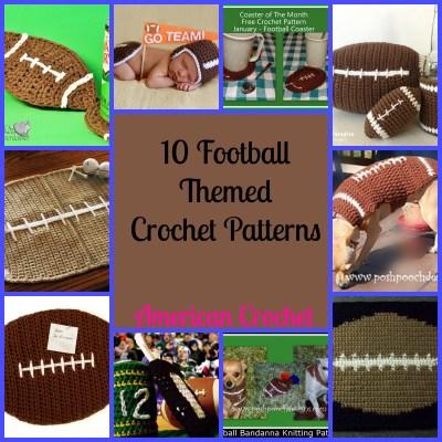 10 FOOTBALL THEMED CROCHET PATTERNS
