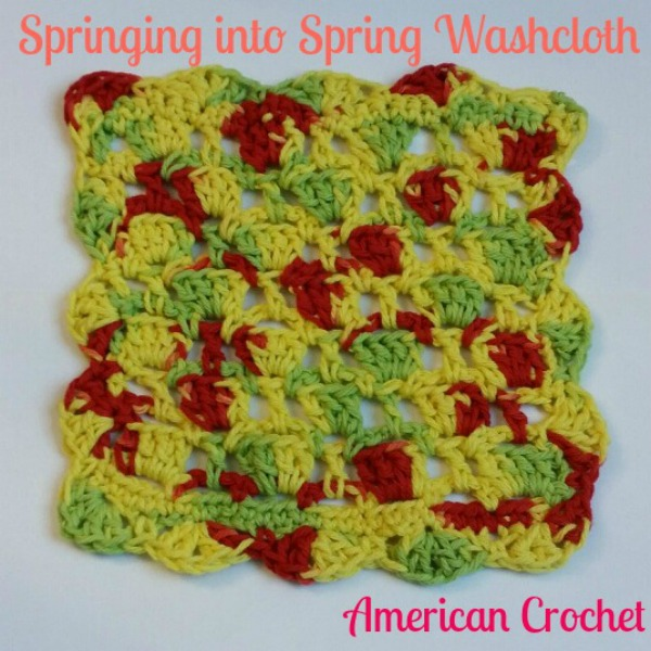 Springing into Spring Washcloth | Free Crochet Pattern | American Crochet @americancrochet.com #freecrochetpattern