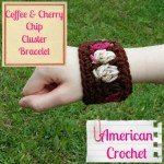 Coffee n Cherry Chip Cluster Bracelet