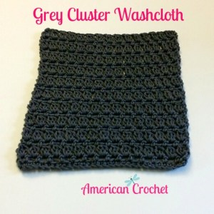 Grey Cluster Washcloth