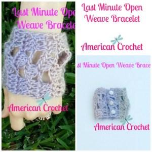 Last Minute Open Weave Bracelet Collage