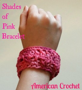 Latest FREE Pattern ~ Shades of Pink Bracelet