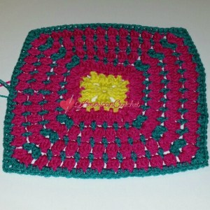 Cluster Square | Free Crochet Pattern | American Crochet @americancrochet.com #freecrochetpattern