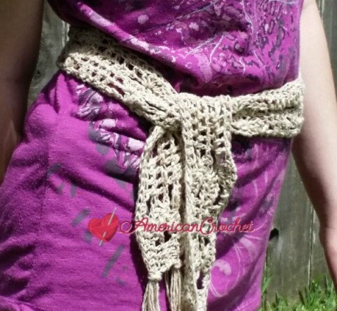Last Minute Open Weave Belt