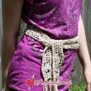 Open Weave Belt | Free Crochet Pattern | American Crochet @americancrochet #freecrochetpattern