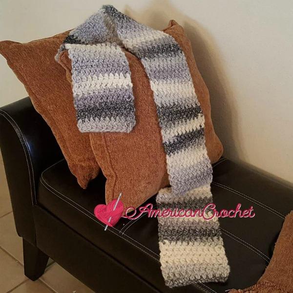 Grey Skies Scarf   Free Crochet Pattern   American Crochet @americancrochet.com #freecrochetpattern