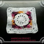 Batik Flower Granny Square free crochet pattern