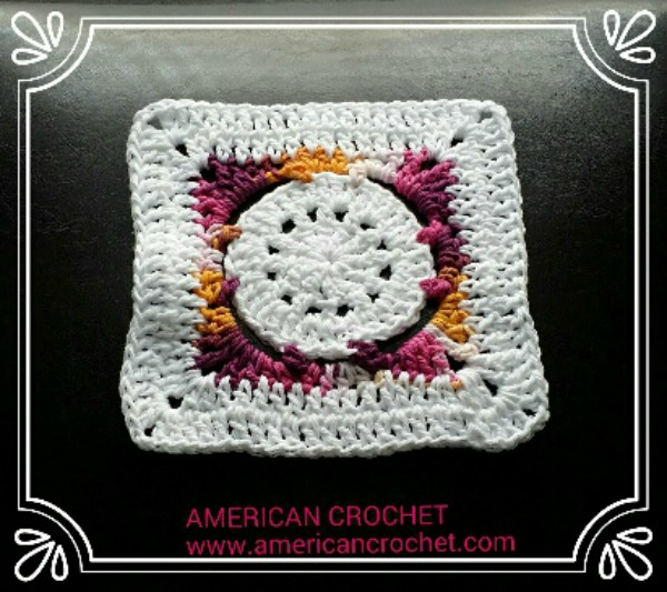 Batik Flower Granny Square