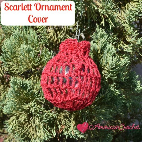Scarlett Ornament Cover | Free Crochet Pattern | American Crochet @americancrochet.com #freecrochetpattern