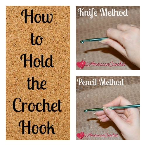 How to Hold the Crochet Hook