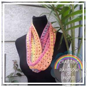 Rainbow Diamonds free crochet pattern