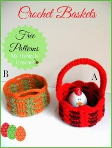 crochet baskets free patterns 2 in 1