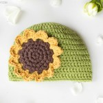 Sunflower Baby Hat Free Crochet Pattern 2