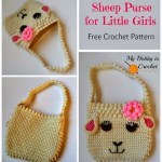 crochet sheep purse free pattern, collage
