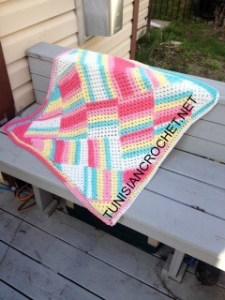 Tutti Frutti Baby Blanket | Free Crochet Pattern | American Crochet @americancrochet.com @tunisiancrochet.net #freecrochetpattern