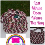 Last Minute Open Weave Tote Bag free crochet pattern