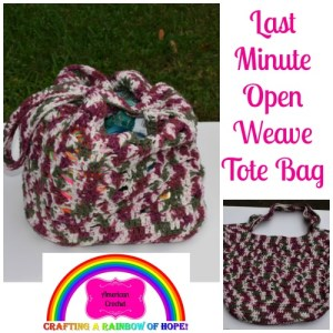 Last Minute Open Weave Tote Bag