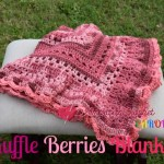 Ruffle Berries Blanket free crochet pattern