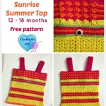 Crochet Sunrise Summer Top