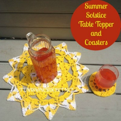 Summer Solstice Table Topper and Coasters
