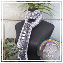 Granny Stripe Skinny Scarf free crochet pattern