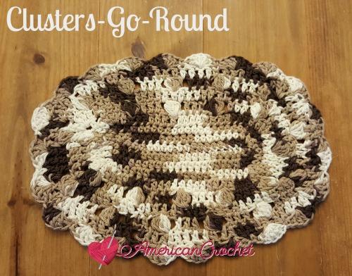 Clusters-Go-Round Washcloth