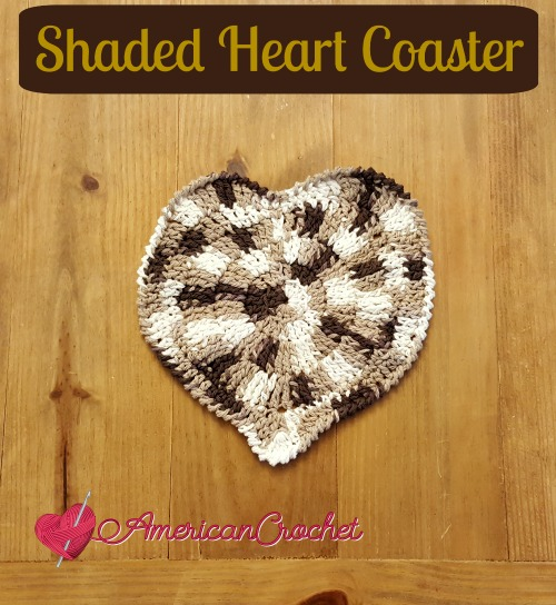 Shaded Heart Coaster browns