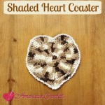 Shaded Heart Coaster free crochet pattern