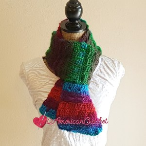 Stormy Tranquility Scarf | Free Crochet Pattern | American Crochet @americancrochet.com #freecrochetpattern