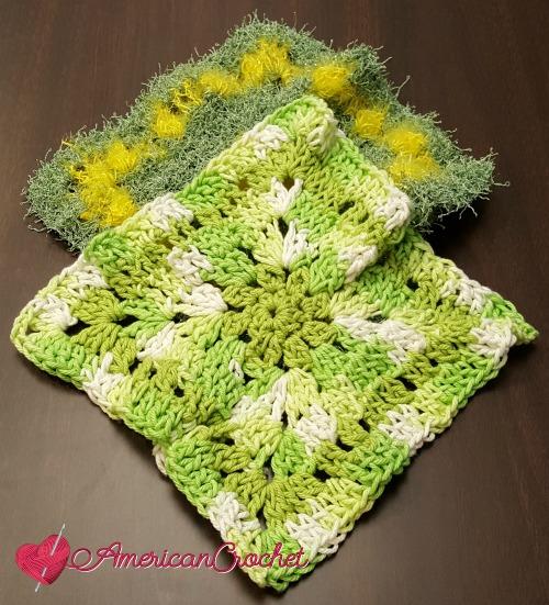 Clust-are Scrubby | Free Crochet Pattern | American Crochet @americancrochet.com #FreeCrochetPattern