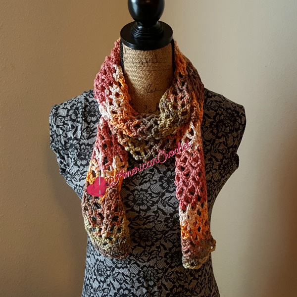 Stained Diamonds Scarf | Free Crochet Pattern | American Crochet @americancrochet.com #freecrochetpattern