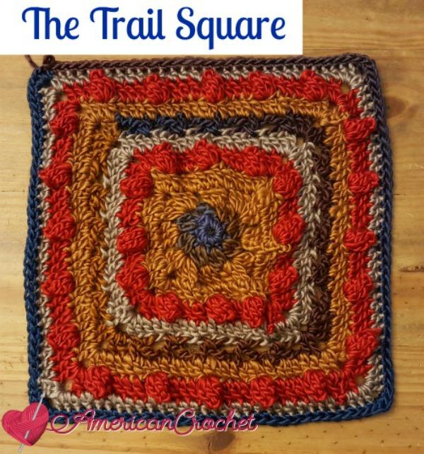 Trail Squar | Free Crochet Pattern | American Crochet @americancrochet.com #freecrochetpatterm