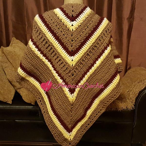 Fall Shawl CAL Part 5 | Free Crochet Pattern | American Crochet #freecrochetalong