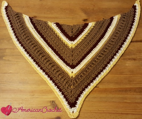 Fall Shawl CAL Part 3 | Free Crochet Pattern | American Crochet #freecrochetalong