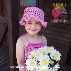 Easy Mesh Summer Hat free crochet pattern