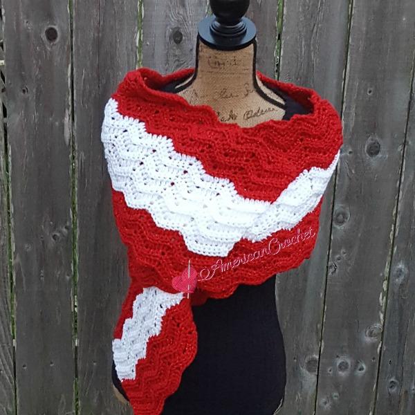 Peppermint Wrap | Crochet Pattern | American Crochet @americancrochet.com #crochetpattern