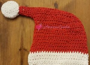 Santa Hat Hotpad | Crochet Pattern | American Crochet @americancrochet.com #crochetpattern