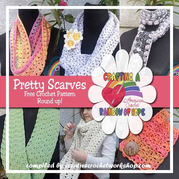 Pretty Scarves | Free Crochet Patterns Roundup | American Crochet @americancrochet.com #freecrochetpatterns
