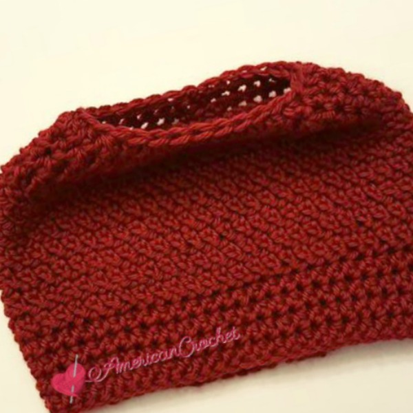Dashing Messy Bun Hat American Crochet Crochet