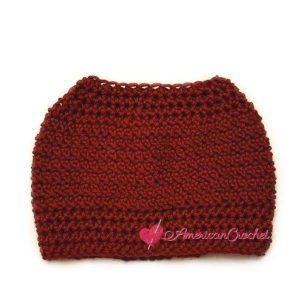 Dashing Messy Bun Hat | Crochet Pattern | American Crochet @americancrochet.ocm #crochetpattern
